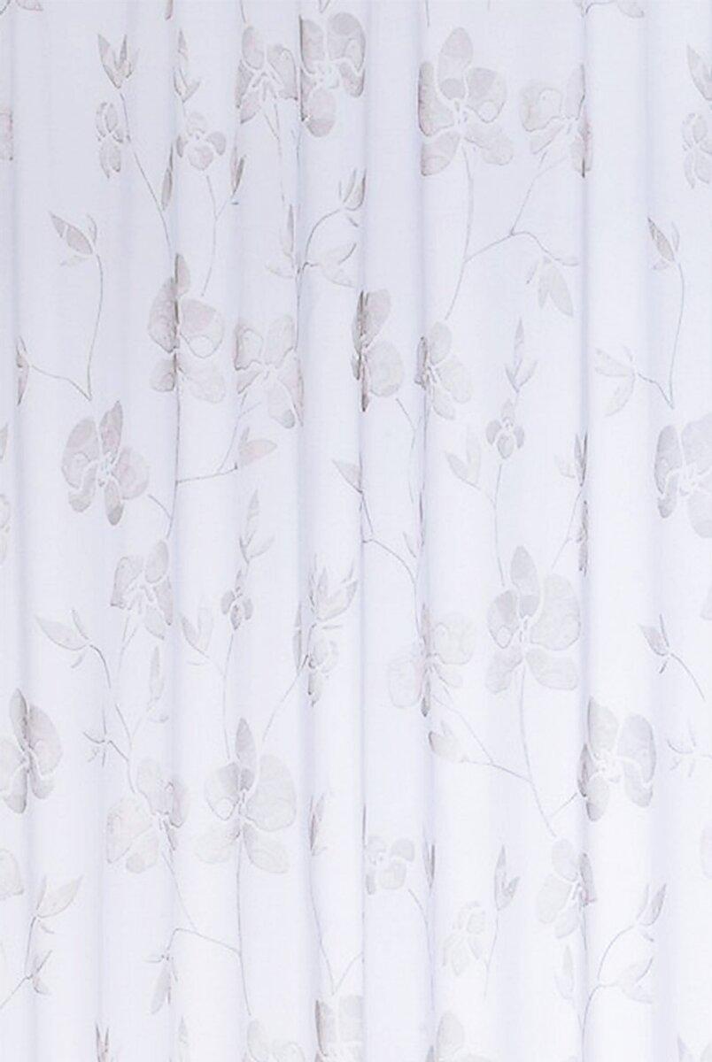 raffrollo mit schlaufen 1 st ck farbe weiss grau blumenmust. Black Bedroom Furniture Sets. Home Design Ideas