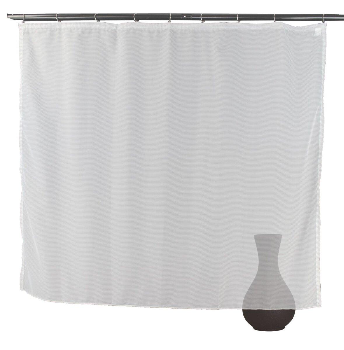 gardine grau gardinenband kr uselband querstreifen transparenter. Black Bedroom Furniture Sets. Home Design Ideas