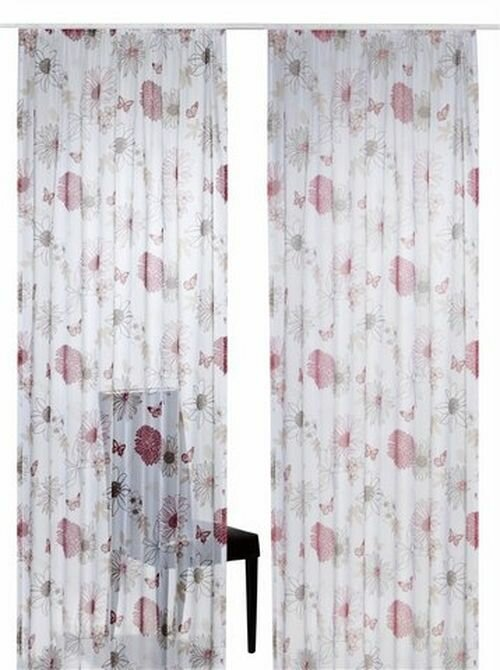 gardine ma e hxb 225x140cm bunt muster gardinenband kr. Black Bedroom Furniture Sets. Home Design Ideas