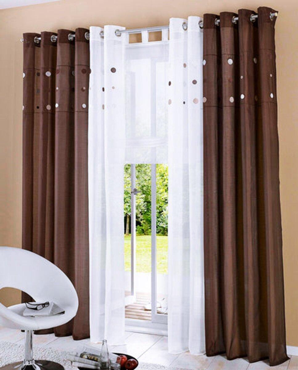 dekoschal mit sen farbe creme design kreise punkte bestick. Black Bedroom Furniture Sets. Home Design Ideas