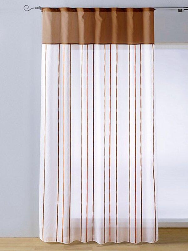 dekoschal mit sen oder kr uselband farbe orange taupe. Black Bedroom Furniture Sets. Home Design Ideas