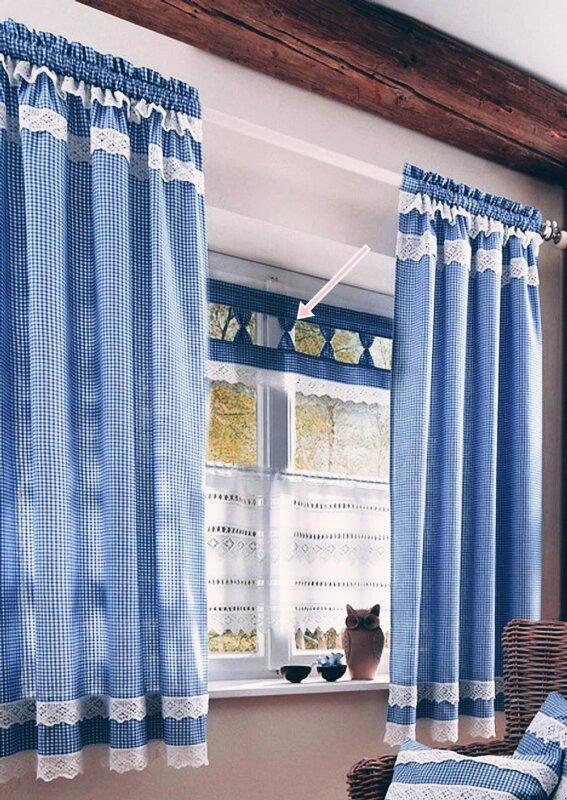 bogengardine panneaux mit stangendurchzug farbe blau design karie. Black Bedroom Furniture Sets. Home Design Ideas