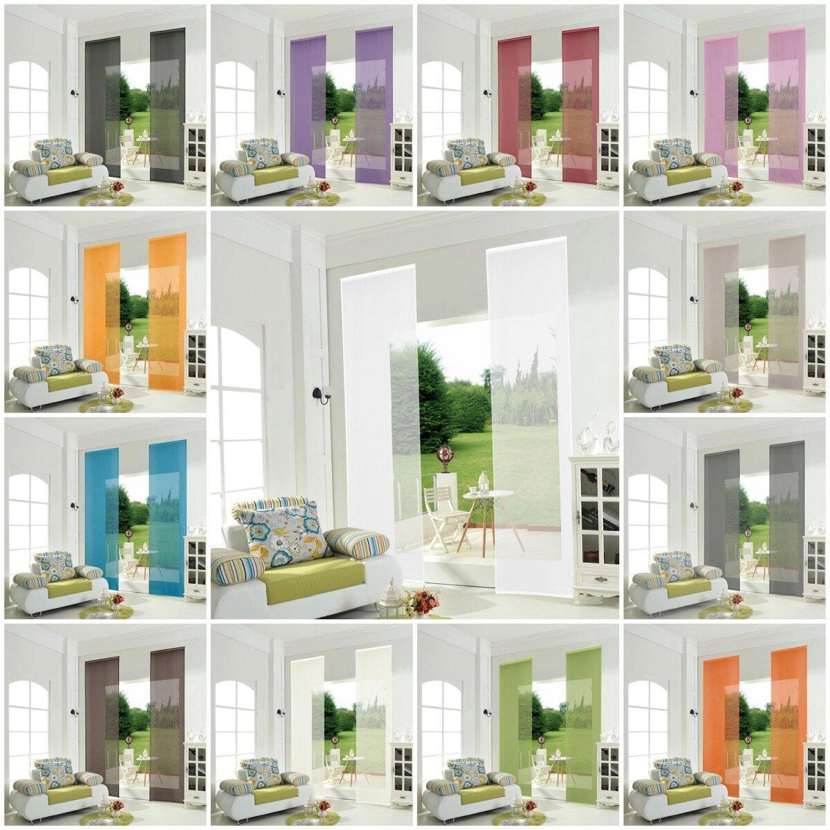 855892 2er pack schiebepanel schiebegardine fl chenvorhang u. Black Bedroom Furniture Sets. Home Design Ideas