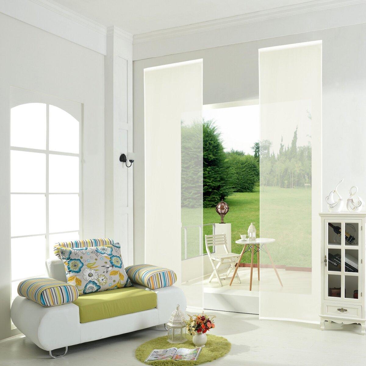 855892 creme 2er pack schiebepanel schiebegardine. Black Bedroom Furniture Sets. Home Design Ideas