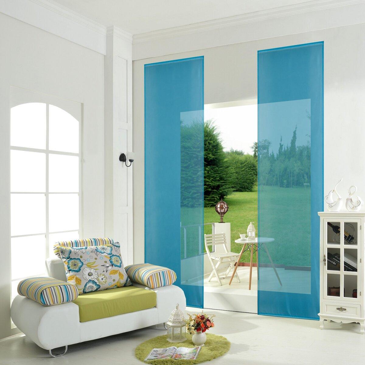 855892 t rkis 2er pack schiebepanel schiebegardine fl ch. Black Bedroom Furniture Sets. Home Design Ideas