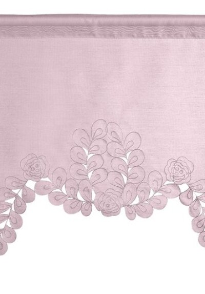 5416 kuvertstore mit tunneldurchzug farbe rose design stickerei. Black Bedroom Furniture Sets. Home Design Ideas