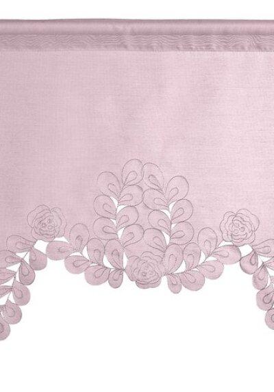 kuvertstore mit tunneldurchzug farbe rose design stickerei blumen. Black Bedroom Furniture Sets. Home Design Ideas